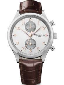 William L 1985 heren horloge WLAC02GOCM Small Chronograph Vintage Style
