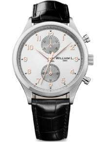 William L 1985 heren horloge WLAC02GOCN Small Chronograph Vintage Style