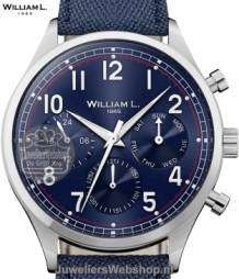 William L Horloge WLAC03BUCAB Calendar Blauw