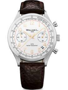 William L 1985 heren horloge WLAC1BCORBM Chronograph Vintage Style