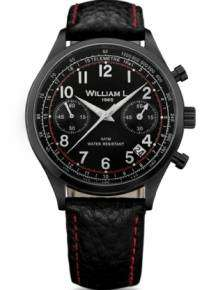 William L Horloge WLIB01NRBNSR Chrono Zwart