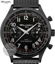 William L Horloge WLIB01NRMMN Chrono Edelstaal  Zwart
