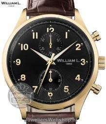 william l small chrono vintage style heren horloge goud