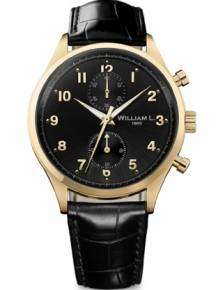 William L Horloge WLOJ02NROJCN Small Chrono Goud Zwart