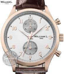 william l small chrono vintage style heren horloge rose