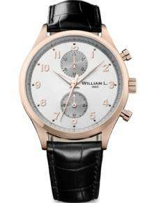 William L Horloge WLOR02GOCN Small Chrono Rose Zwart