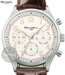 William L Horloge WLOR03BCORCN Calendar Zwart Rose