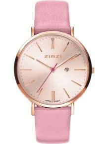 zinzi retro horloge rose ziw405r roze band
