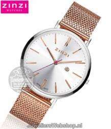 Zinzi horloge ZIW412MR Retro Rose Zilver