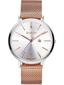 zinzi retro horloge rose-zilver ziw412MR bicolor