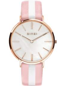 Zinzi horloge ZIW418RS Retro Rose Wit Roze Parelmoer