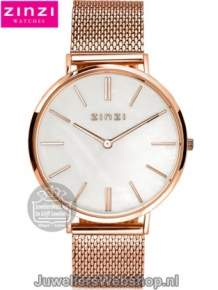 | Zinzi horloge ZIW418M Retro Mother of Pearl Rose