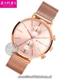 Zinzi Traveller Dameshorloge ZIW705M Rose Duo Time
