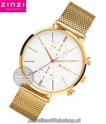 Zinzi Traveller Dameshorloge ZIW707M Goud Duo Time