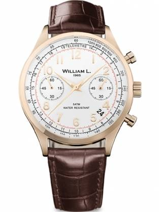 William L 1985 heren horloge WLOR01BCORCM Chronograph Vintage Style