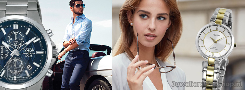 Pulsar horloges voor Dames en Heren. Pulsar Watches online.